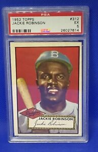 1952 Topps Jackie Robinson #312 PSA 5 EX Sports Most Courageous Legend/Player