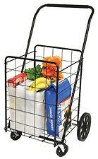Deluxe Swiveler Shopping Cart, 4-Wheel
