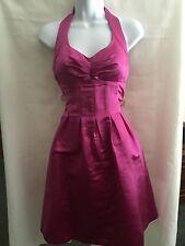Victoria's Secret Moda ~ Pink Silk Satin Halter Semi Formal Dress  Size 2