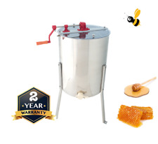 4 Frame Honey Extractor Manual Langstroth - Tangential Stainless Steel Spinner