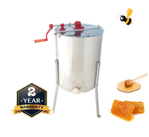 4 Frame Honey Extractor Manual Langstroth - Tangential Stainless Steel Spinner
