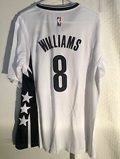 Adidas Swingman 2015-16 NBA Jersey Brooklyn Nets Williams White Short Sleeve 2X