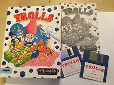 Commodore amiga 1200 A1200 juego Trolls por caja de tarjeta de software justo Grande Completa