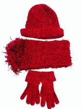 RARE 3pc scarf set Charter Club Burgundy Red $131.99 Value Sale F