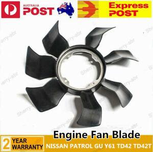 For NISSAN PATROL GU Y61 TD42 TD42T Cooling Engine Fan Blade Upgrade G35 Black