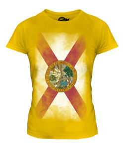 FLORIDA STATE FADED FLAG LADIES T-SHIRT TEE TOP FLORIDIAN SHIRT JERSEY GIFT