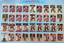 1987~1990 PATRICK ROY Goalie HOF Lot x 102 Cards | Topps OPC Bowman Score French