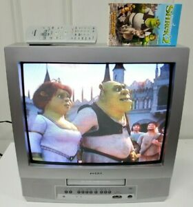"""Toshiba 20"""" CRT Retro Gaming Color TV VCR Combo Player with Remote-Works! MV20P2"""