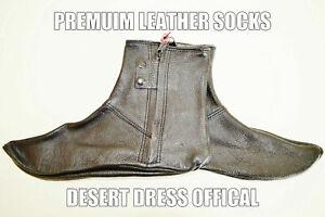 Leather Socks Khuffs Footwear Shoes Feet Khuffain Arab Wudu Abloution Premuim