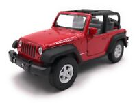 Model Car Jeep Wrangler Rubicon SUV Red Cabriolet Car Scale 1:3 4-39