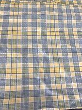 handmade custom drapes curtains 4 Panels 40 x 48 blue yellow plaid quilt fabric