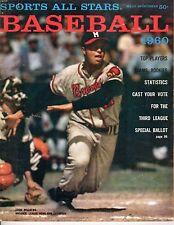 1960 Sports All Stars Baseball magazine, Eddie Mathews, Milwaukee Braves ~ Fair