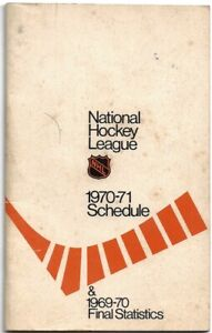 HOCKEY NHL SCHEDULE AND STATS 1970-71, 36 PAGES, GOOD CONDITION