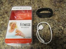 New Black Fitness Wristband Supersonic Bt/Pedometer/Calorie Counter Sc-62Sw