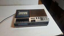 Vintage GE General Electric FM/AM Clock Radio Cassette Recorder Model 7-4956B