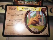 HARRY POTTER TCG CARD CHAMBER OF SECRETS CRAZED CAPYBARA 8/140 RARE MINT EN