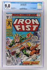 Iron Fist #14 - Marvel 1977 CGC 9.0 1st Appearance of Sabretooth (Victor Creed).
