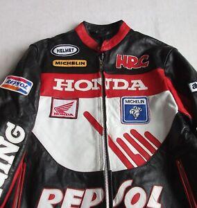 Vintage HONDA RESPOL Motorcycle Leather Jacket