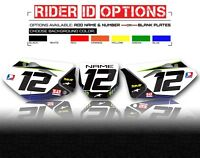 2008 - 2018 KLX 450 CUSTOM NUMBER PLATE THICK BACKGROUNDS KAWASAKI GRAPHICS KIT