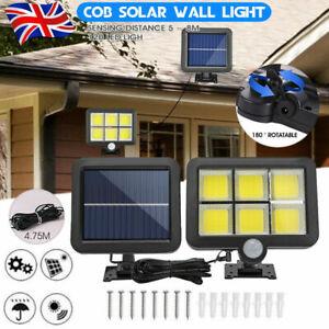 120LED Solar Powered PIR Motion Sensor Garden Wall Light Security Flood Outdoor~
