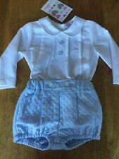 FREE P&P SPANISH SHIRT, QUILT WINTER SHORTS 0/3,3/6,6/12,12/18,18/24 MONTHS