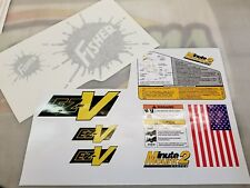 Fisher Minute Mount 2 EZ-V Snow Plow Decals MM2 10 pc Kit Safety Instructions