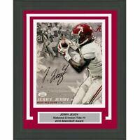 FRAMED Autographed/Signed JERRY JEUDY Alabama Crimson Tide 8x10 Photo JSA COA #6