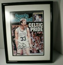 Larry Bird Celtic Pride SI Cover Picture Photo Autographed Signed UD Hologram