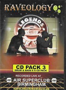 Raveology Legends Of The Dark Black CD Pack 3 BUKEM SI SMITH ETC JUNGLE