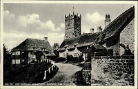 Godshill England Isle of Wight ~1930 Old Cottages Church Kirche Landhaus Houses