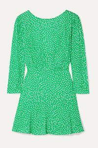 RIXO London WOMAN floral-print mini dress