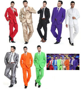 New Men Xmas Adult Christmas Costumes Solid Colour Party Suit Bachelor Party Tie