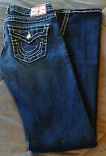 True Religion Jeans 24 Thick Stitching Gems Long Sexy EUC