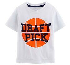 NWT Carter's Basketball Draft Pick Polyester Athletic Tee T-Shirt Toddler Boy 2T