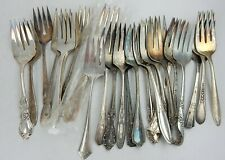 New Listing25 Silverplate Cold Meat Forks Servers Flatware Vintage Silverware Craft Use