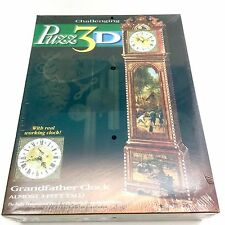 Puzz 3D Grandfather Working Clock 777 Pieces Almost 3 Feet Tall New Free Ship!