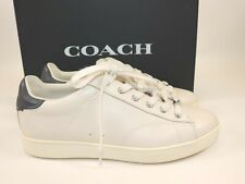 NIB $198 COACH Size 9 Women's Off White Midnight Nappa Leather LOW TOP Sneaker