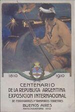 ARGENTINA RAILWAYS FFCC CENTENARIO EXPOSICION 1910 DE FERROCARRILES Y TRANSPORTE