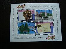 SUISSE - timbre - yvert et tellier bloc n° 26 obl (Z3) stamp switzerland (E)