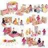 infantil Miniatura Casa De Muñecas Muebles Juego madera familia Simulación