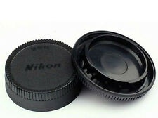 Lens Rear Cap + Camera Body Cover for Nikon D7100 D7000 D5100 D3400 D3300 D3100