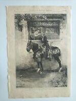 1885 Xilografía: Despedida del Contrabandista cuadro del Sr. García Ramos