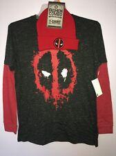 Deadpool - Splatter Icon Longsleeve Shirt M  With Hat Beani