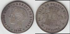 JUST REDUCED!!  SCARCE!! 1896 PUERTO RICO (CHILD KING) 10 CENTAVOS VF