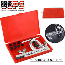 9pcs/set Pipe Flaring Tool Kit Tube Flare Tool Includes Clamp Spreader Dies