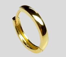 ECHT GOLD *** Herren Single- Creole 14 mm *** Ohrring schlicht glänzend