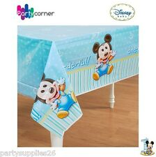 """MICKEY MOUSE 1ST BIRTHDAY PARTY SUPPLIES  TABLE CLOTH / TABLE COVER 54"""" x 96"""""""