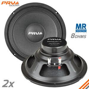 """2x PRV Audio 8MR500-NDY V2 8"""" Mid Range Neodymium 8 Ohms Car Audio Speaker 1000W"""