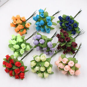 1 Bouquet 12 Rose Heads Artificial Fake Roses Flower Wedding Home Decor Reliable