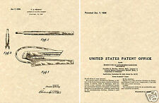 1936 PONTIAC CHIEF HOOD ORNAMENT PATENT Art Print READY TO FRAME!!!! GM CAP